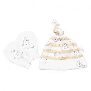 d4fc25557d636 ベビーザらス限定 MOOMIN 新生児帽子&ミトンセット ムーミン(ベージュ×フリー)