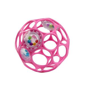 転がして遊んだり、振って音を鳴らす赤ちゃん用のボールです。小さな手でも持ちやすい設計です。※商品のデ...
