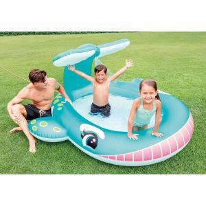 INTEX クジラくん シャワープール 196×201cm【ビニールプール】【大型プール】