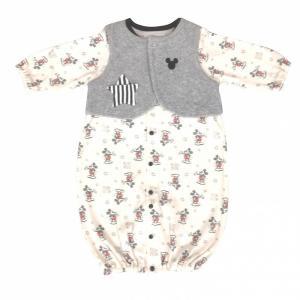 【ベビーザらス限定】人気ディズニーキャラクター ミッキーの新生児ドレスです。ボタンをとめればプレオー...