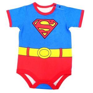 【トイザらス・ベビーザらス限定】半袖ボディスーツです。スーパーマンのなりきりデザインがかわいく、愛ら...