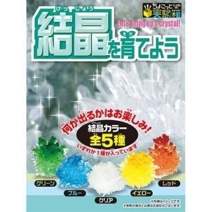 パウダーをお湯に溶かして後は待つだけ!結晶ができていく様子を観察しよう!結晶カラー全5色。何が出るか...