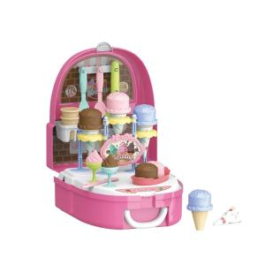 どこでもおままごと遊びが出来るリュックが登場!可愛いアイスクリーム屋さんが小さい背中に背負えちゃう♪...
