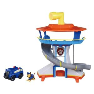 パウ・パトロールが発進する基地「パウステーション」がおもちゃで登場! ・望遠鏡で事件を発見! ・エレ...
