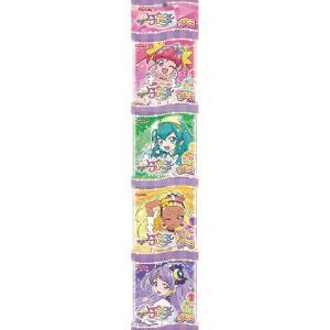 「スター☆トゥインクルプリキュア」を起用した4連の吊り下げグミです。グミの味はグレープ、ピーチ、レモ...