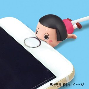 iPHONE用ライトニングケーブルにかみ付いて断線を防ぐかわいいマスコットです。※スマートフォンは含...