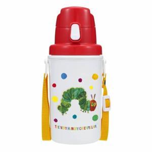 名作絵本「はらぺこあおむし」の水筒です。軽量で保冷タイプの直飲み水筒です。