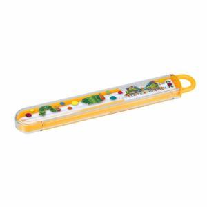 名作絵本『はらぺこあおむし』のケース付きのお箸です。小さなお子さまの手に馴染みやすいサイズの滑り止め...