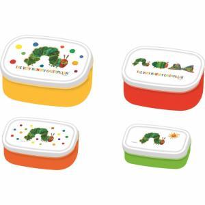 名作絵本『はらぺこあおむし』のお弁当箱です。大小便利な4ピースランチ。