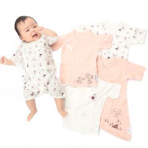 ベビーザらス限定 MOOMIN 新生児肌着5点セット リトルミイ(ピンク×50-60cm)