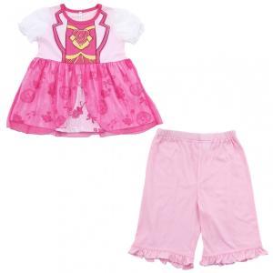 ベビーザらス限定 ヒーリングっどプリキュア 半袖変身パジャマ (ピンク×100cm)