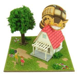 3D立体パズル ペーパークラフト みにちゅあーとキット スタジオジブリmini となりのトトロ 草壁家とネコバス MP07-02|toystadium-jigsaw