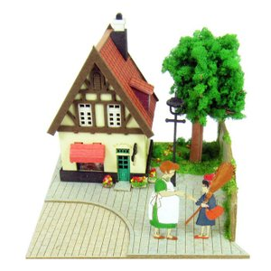 3D立体パズル ペーパークラフト みにちゅあーとキット スタジオジブリmini 魔女の宅急便 オソノさんとキキ MP07-07 メール便送料無料|toystadium-jigsaw