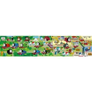 パノラマパズル ステップ1 すくすく脳 3才から 8・12・16ピース きかんしゃトーマスせんろをつなげて1 16.5×74cm 24-116 toystadium-jigsaw