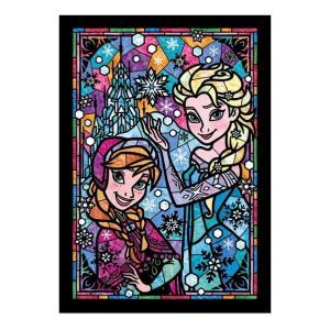 ディズニー ステンドアートジグソーパズル ぎゅっと266ピース アナと雪の女王 アナ&エルサ ステンドグラス DSG-266-753|toystadium-jigsaw