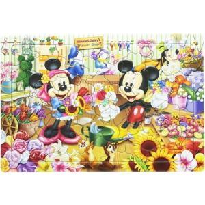 キッズパズル 板パズル 4才から 60ピース ディズニー ミッキー&フレンズ すてきなお花屋さん! DC-60-045