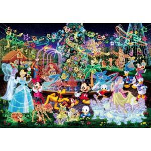 ジグソーパズル ディズニー 500ピース ミッキーと仲間たち マジカルイルミネーション D-500-391|toystadium-jigsaw