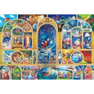 ディズニー ステンドアートジグソーパズル ぎゅっと500ピース ディズニーオールキャラクタードリーム DSG-500-410|toystadium-jigsaw