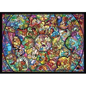 ジグソーパズル 500ピース ディズニーオールスター ステンドグラス D-500-457|toystadium-jigsaw