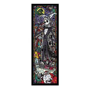 ステンドアートジグソーパズル ぎゅっと456ピース ディズニー ナイトメアー・ビフォア・クリスマス ステンドグラス DSG-456-723|toystadium-jigsaw
