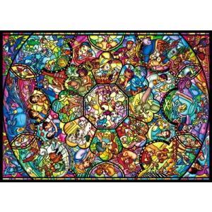 ジグソーパズル 2000ピース ディズニー オールスターステンドグラス D-2000-603|toystadium-jigsaw