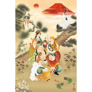 ジグソーパズル 1000ピース 日本画 吉祥七福満願図 1000-679|toystadium-jigsaw