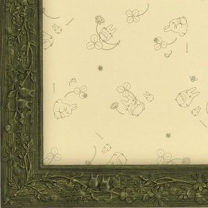 ジブリ作品専用パズルフレーム 1000ピース用 葉っぱ 緑 50×75cm パネルNo.10 ラッピング不可|toystadium-jigsaw