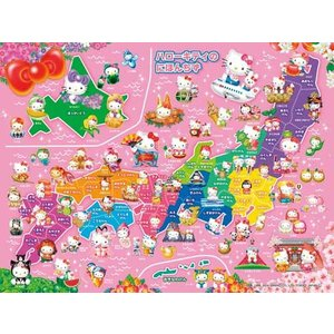 やわらかパズル&ブロック 38ピース ハローキティのにほんちず EVA-012 toystadium-jigsaw