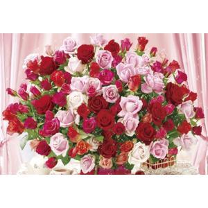 ジグソーパズル 1000ピース 花色セラピー 100本のバラ 61-343 toystadium-jigsaw