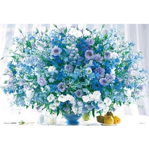 ジグソーパズル 1000マイクロピース 花色セラピー 気分が安らぐ ヒーリングブルー M61-702 toystadium-jigsaw