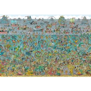 ジグソーパズル 150ラージピース Where's Wally? ウォーリー 深海のダイバー L74-122|toystadium-jigsaw