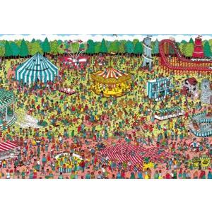 ジグソーパズル 150ラージピース Where's Wally? ウォーリー 休日のゆうえんち L74-123|toystadium-jigsaw