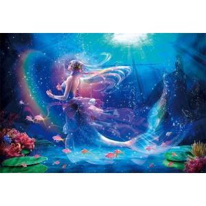ジグソーパズル 1000ピース 光るパズル 貴希 ホーリーウィッシュ~人魚姫より~ 49x72cm 81-115|toystadium-jigsaw
