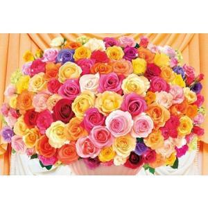 ジグソーパズル 300ピース 100本のバラ~カラフル~ 93-105 toystadium-jigsaw