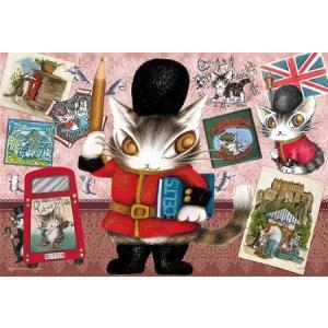 ジグソーパズル わちふぃーるど 300ピース ダヤンの絵描き旅‐イギリス‐ 26x38cm 03-860|toystadium-jigsaw