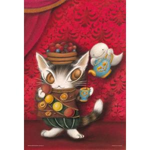 ジグソーパズル 300ピース わちふぃーるど 猫のダヤン 赤い部屋のマカロン 26×38cm 03-...