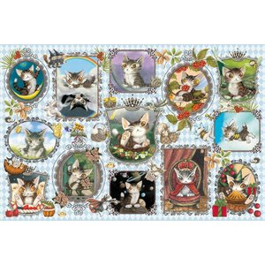 ジグソーパズル わちふぃーるど 1000ピース ベイビーダヤンズ・ギャラリード 50×75cm 10-1290|toystadium-jigsaw