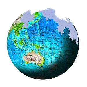 3D球体パズル 540ピース KAGAYA 天体パズル ブルーアース2 地球儀 2054-110 toystadium-jigsaw