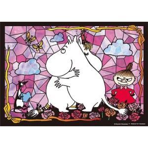 ジグソーパズル 108ピース プリズムアート ムーミン ラブラブな二人 61-36|toystadium-jigsaw