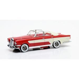 メルセデス Ghia 300C Allungata カブリオ 1956 レッド/ホワイト 1/43スケール 国際貿易|toystadiumookawaya