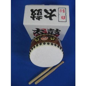 国産手作り本格皮和太鼓 白 50号 バチ2本付き 日本製|toystadiumookawaya|02