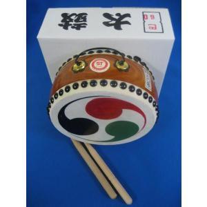 国産手作り本格皮和太鼓 巴 60号 日本製 バチ2本付き|toystadiumookawaya|02