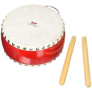 木の知育楽器 Kids Percussion キッズパーカッション キッズわだいこ レッド 出産祝い ギフト|toystadiumookawaya