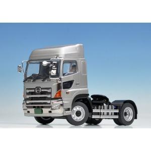 日野自動車の大型トラック、プロフィアの後輪一軸タイプトレーラヘッドを1/50スケールで再現したダイキ...