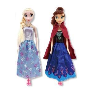 ディズニーアナと雪の女王2 アナ&エルサ フローズンドール2体セット 高さ約30cm