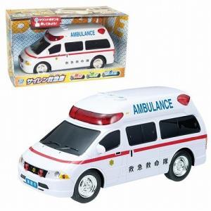 フリクション走行の高規格救急車です。 3つのボタン(1、サイレン点滅 2、サイレン音/点滅+音声アナ...