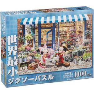 ディズニー ジグソーパズル 世界最小 1000ピース ミニーのフラワーショップ DW-1000-393 ミッキー&ミニー テンヨー toystadiumookawaya