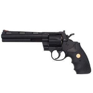 コルト パイソン 6インチ ブラック 18才以上用エアリボルバー No.13211 クラウンモデル|toystadiumookawaya