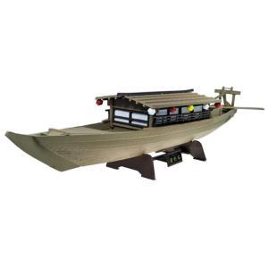 花火鑑賞や観光客に人気の、屋形船の全長約40cmの情緒あふれるプラモデルです。 部品数も多くないので...