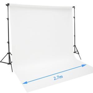 バック紙撮影セット Lサイズ ストロボライト2灯セット(バック紙2.7x11m白付き)|tpc|05